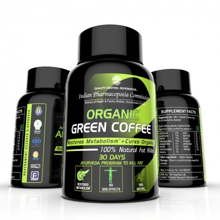 The Yoga Man Lab – Organic Green Coffee - Burns 8-12 kg of Fat in 30 Days