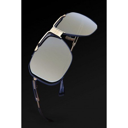 ḋita® Cascas ™ Gold Crown & Hanging with Blue Floating Frame & BlueishTitanium Tinted Lenses Aviator Eyewear