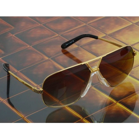 ḋita® Chalanger ™ with Black Gold Engraving & Crown Centre with Copper Tinted Lenses Aviator Eyewear