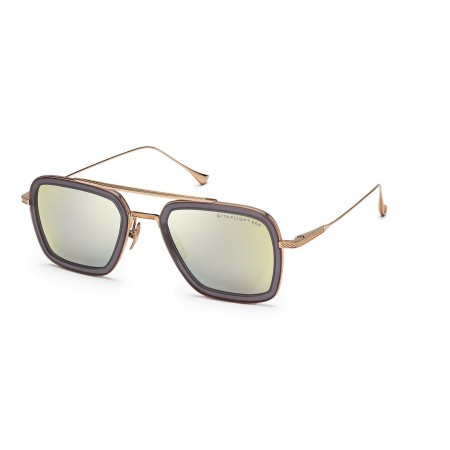 ḋita® Flight 6™ with sleek Gold Temples with Crown Centre & Copper Tinted Lenses Aviator Eyewear