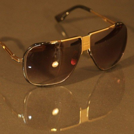 ḋita® Cascas AllGold™ Gold Crown Hanging with Floating Frame & Copper Tinted Lenses Aviator Eyewear