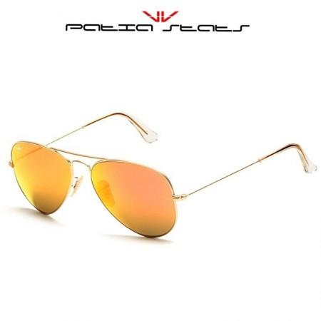 Patia Stats Gold Aviator Flash Sunglasses