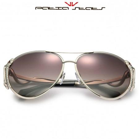 Patia Stats Snake Temple Aviator Sunglasses