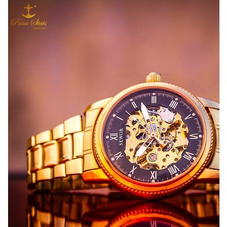 "Patia Stats ""GOLD MINE"" - Wrist Nerve Sensing Self-Winding Timepiece"