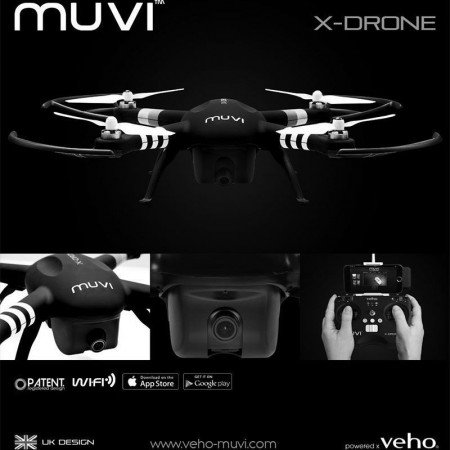 Veho Muvi X-Drone Quadcopter with built-in 1080p camera and wifi/app