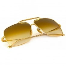 ḋita® Flight ™ with sleek Gold Temples with Crown Centre & Copper Tinted Lenses Aviator  Eyewear