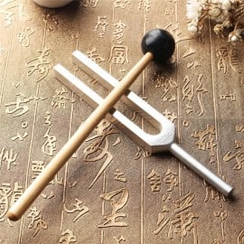 Set of Tuning Fork Chakra Hammer with Mallet for Sound Healing Therapy