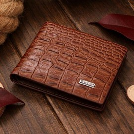 Sev Crocodile Skin Wallet