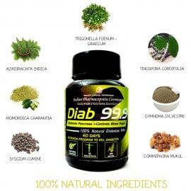 Diab 99.9 Ayurvedic Herbs for Diabetes by Mahashi Ayurveda