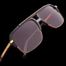 ḋita® MAC 4 ™ King's Gold Wing Crown with Gold Satellite Frame with Copper Tinted Dense Lenses Aviator Eyewear