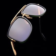 ḋita® MAC 1™ Gold Textured Frame with King Style Crown with Copper Tinted Densed Lenses Aviator Eyewear