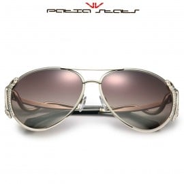 Patia Stats Snake Temple Aviator Sunglasses
