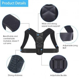 Posture Corrector Belt - Back Pain Reliever - Cervical Protector (Adjustable to Multiple Body Sizes) - by Dr. BODY SCIENCES
