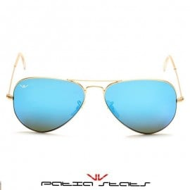 Patia Stats Blue Aviator Flash Sunglasses